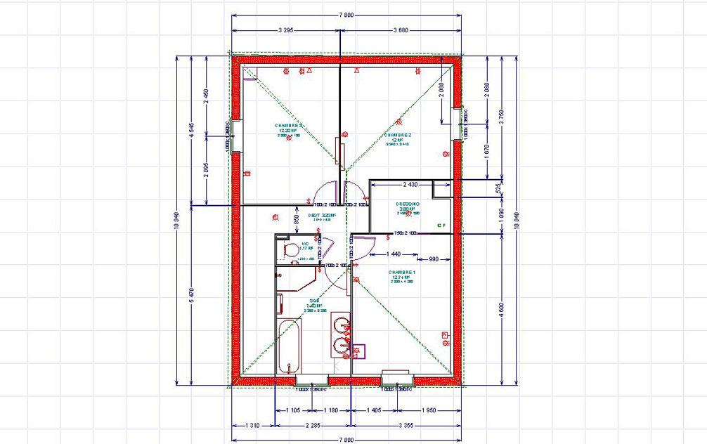 Notre future maison levens 2 le choix de la maison - Plan chambre avec salle de bain ...