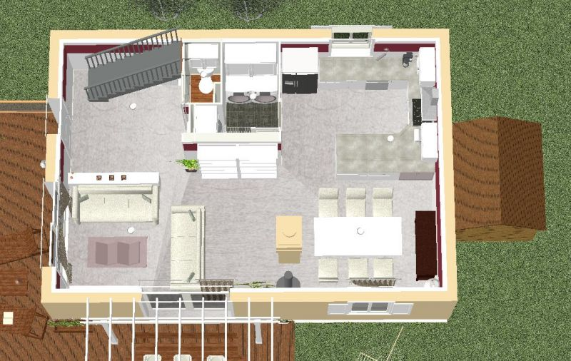 Notre future maison levens 5 vue 3d du futur am nagement int rieur for Plan amenagement maison