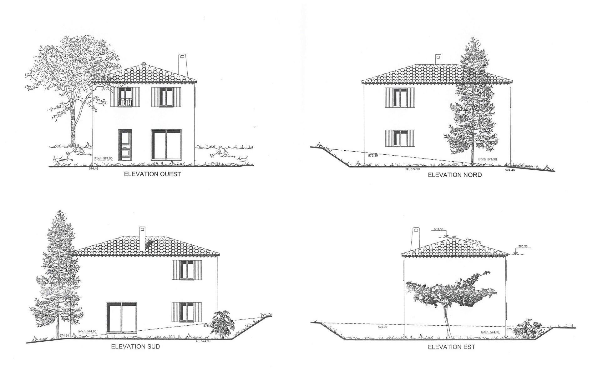 Notre future maison levens 2 le choix de la maison - Toit de maison dessin ...