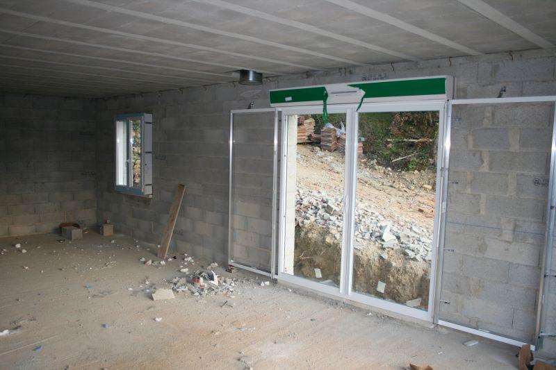 Notre future maison levens les fen tres - Pose de porte coulissante a galandage ...