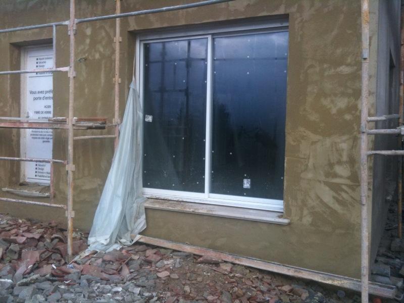 notre future maison levens la sous couche sur la fa ade. Black Bedroom Furniture Sets. Home Design Ideas